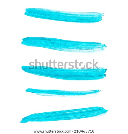 Beautiful bright watercolor stripes. And also includes EPS 10 vector - stock vector