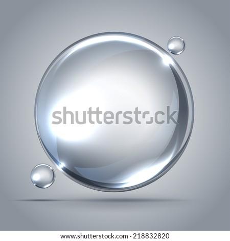 beautiful bubbles of soap - stock vector
