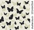 Beautiful butterfly pattern. Vector illustration - stock vector