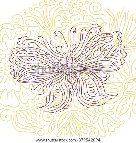 Beautiful butterfly vector illustration - stock vector