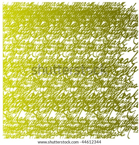 beautiful calligraphic vector background - stock vector