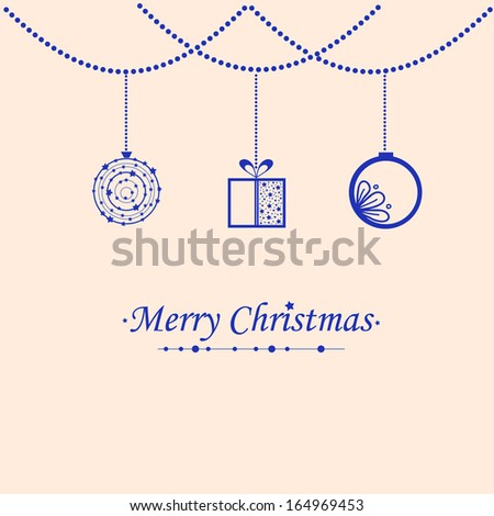 Beautiful card for congratulation with Christmas, New Year and holidays