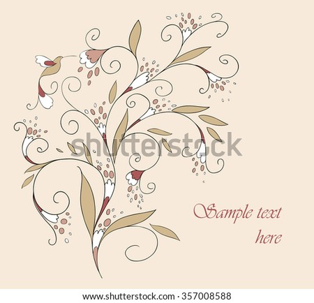 Beautiful card for your design. Vector. Background.