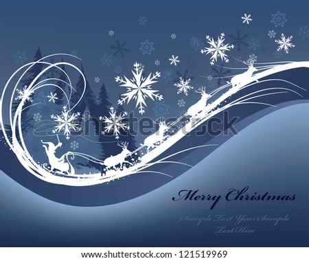 Beautiful Christmas (New Year) card. Vector illustration with mesh.