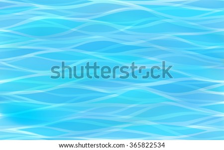 Beautiful, clear light blue background of stylized waves