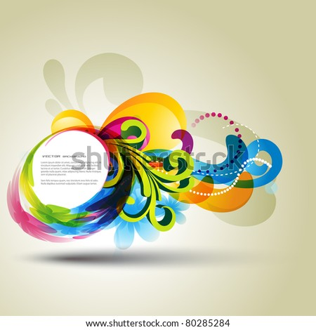 beautiful colorful abstract background design