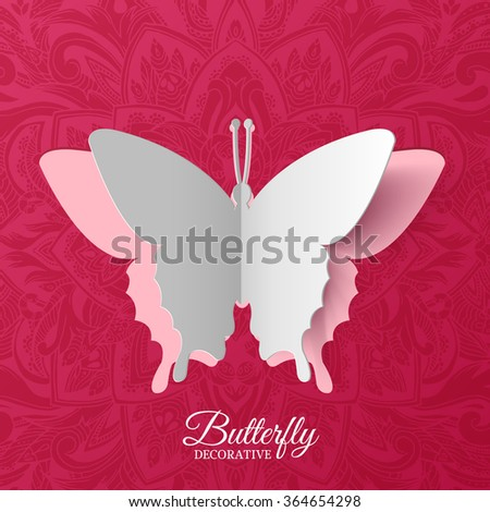 beautiful colorful butterfly background concept. Vector illustration template design - stock vector