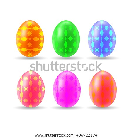 Beautiful colorful easter eggs