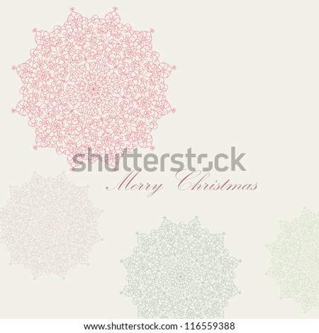 Beautiful colorful lace ornament for merry christmas card, background, backdrop, wallpaper, invitation, border, banner, brochure  vector eps 8 - stock vector