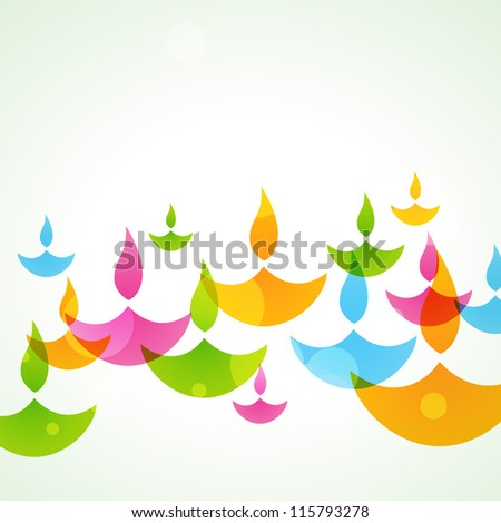 beautiful colorful stylish vector diwali background - stock vector
