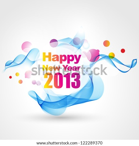 beautiful colorful vector new year design - stock vector