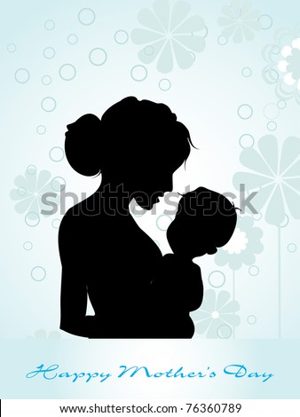 beautiful concept greeting card for mom day celebration - stock vector