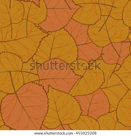 Beautiful crisp autumn seamless pattern with yellow and orange leaves.Vector illustration.Bright background for web pages,cloth,textile,wrapping paper,scrapbooking,Wallpapers.