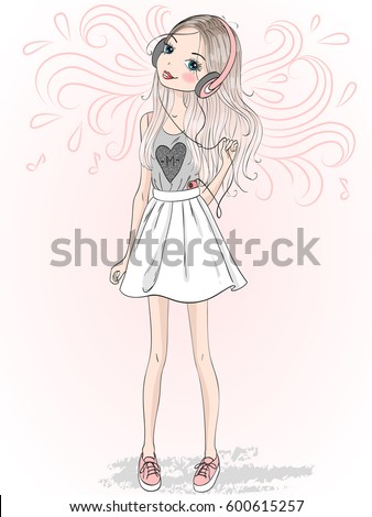 Girl Drawing Stock Images Royalty Free Images Amp Vectors