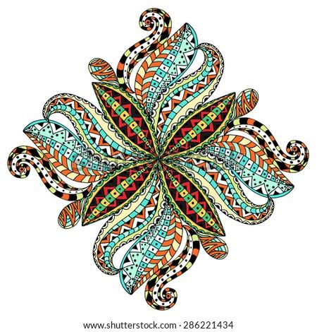 Beautiful Deco Mandala, Patterned design. Vector illustration - stock vector