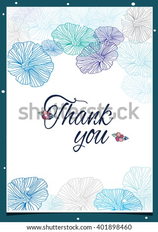 beautiful delicate floral pattern and lettering on white background,greeting vector background
