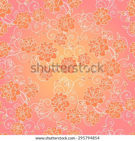 Beautiful delicate seamless background with flowers