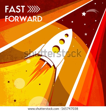 beautiful design a poster on the space theme - stock vector