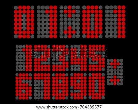 beautiful digital led number use for display score board vector template element