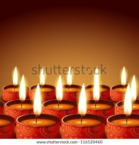 beautiful diwali diya with space for your text