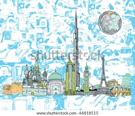 Beautiful Dreamland Sketch (vector) - stock vector