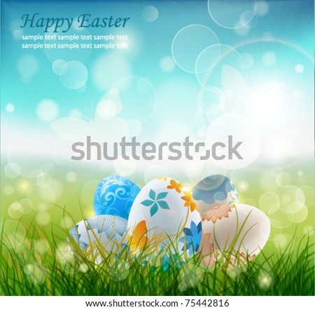 Beautiful Easter Background, Vector Illustrator. - stock vector