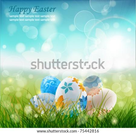 Beautiful Easter Background, Vector Illustrator. - stock vector