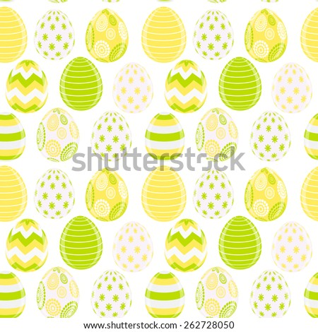 Beautiful Easter Egg Seamless Pattern Background Vector Illustration EPS10 - stock vector