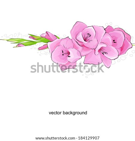 beautiful easy flower background. A vector.
