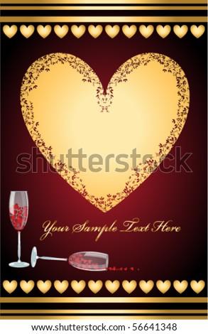 Beautiful elegance greeting card, vector illustration. - stock vector