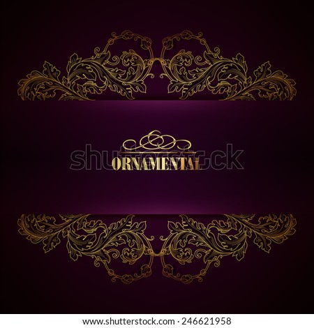 Beautiful elegant background with lace floral ornament and place for text. Designl elements, ornate background. Vector illustration. EPS 10 - stock vector