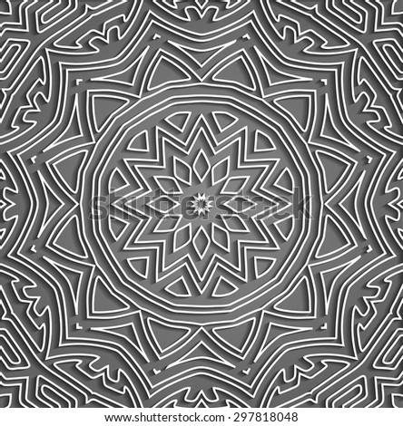Beautiful Embossed Design Pattern - stock vector