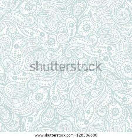 Beautiful ethnic paisley ornament - stock vector