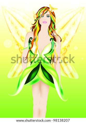 Beautiful fairy of Spring