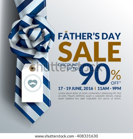 Beautiful Fatherâ??s Day Sale Promotion Design. - stock vector