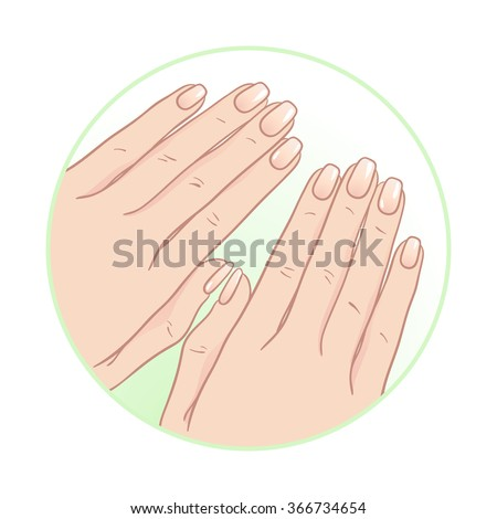 Beautiful female hands and manicure. Body care icon design vector illustration - stock vector