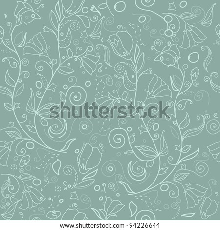 Beautiful floral background  (vector version eps 8). - stock vector