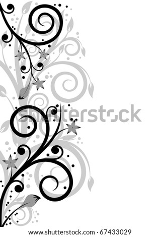 Beautiful floral composition with floral elements and space for text - stock vector