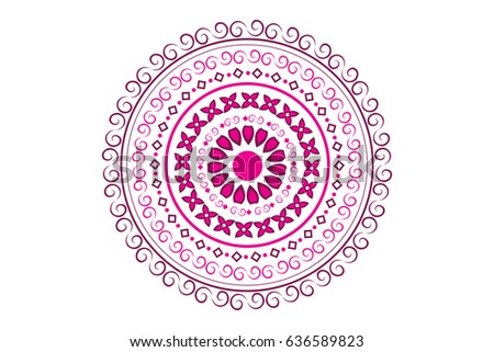 Beautiful Floral Decorated Rangoli Design Vector Illustration Of A Background For Indian Festival