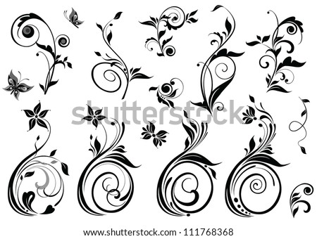 Beautiful floral design - stock vector