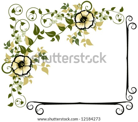 Beautiful Floral Design Frame Vector - stock vector