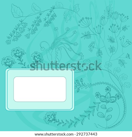 Beautiful floral design on a blue background.