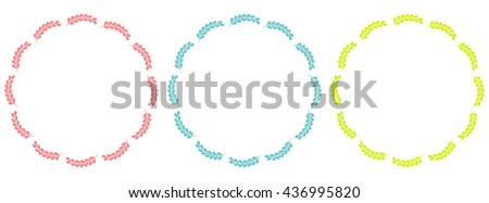 Beautiful floral frames collection. Vector floral set. - stock vector