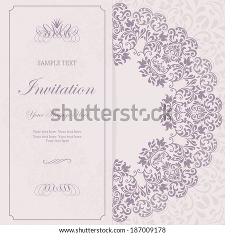 Beautiful floral invitation card.