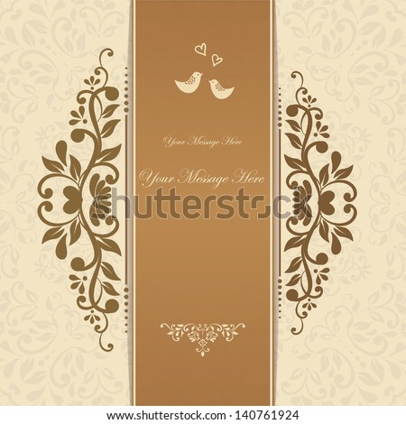 Beautiful floral invitation card. eps10 - stock vector