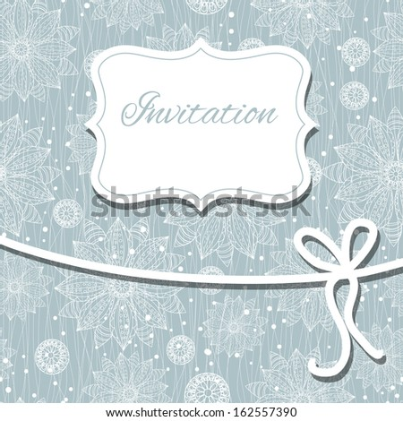 Beautiful floral invitation card/ eps10 . - stock vector