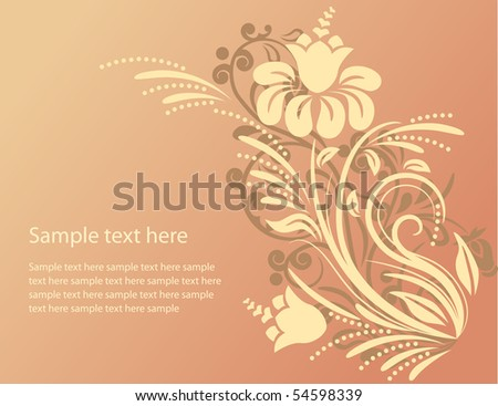 Beautiful floral ornate background