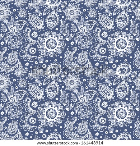 Beautiful floral seamless  - stock vector