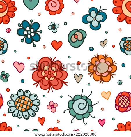 Beautiful floral seamless pattern.Seamless pattern can be used for web page backgrounds, surface textures, wallpapers, pattern fills. Seamless floral background.  - stock vector