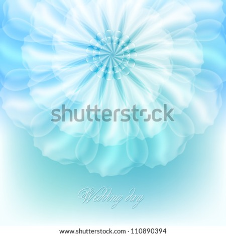 beautiful flower for wedding invitations - stock vector